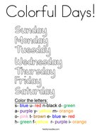 Colorful Days Coloring Page