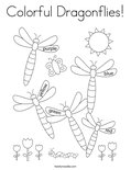 Colorful Dragonflies! Coloring Page