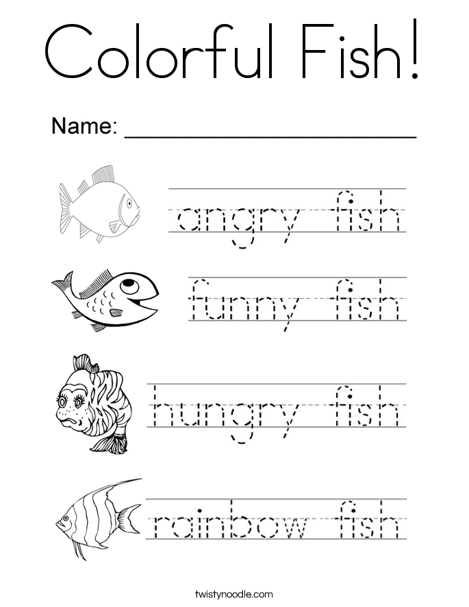 Colorful Fish! Coloring Page