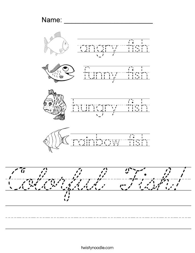 Colorful Fish! Worksheet