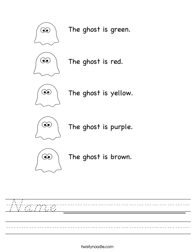 Name _____________ Worksheet - D'Nealian - Twisty Noodle