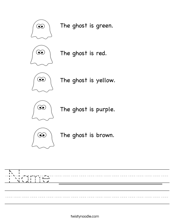 Name _____________ Worksheet