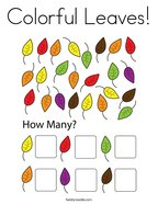 Colorful Leaves Coloring Page