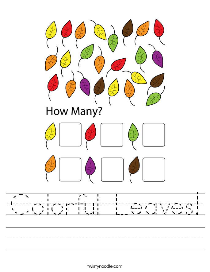 Colorful Leaves! Worksheet