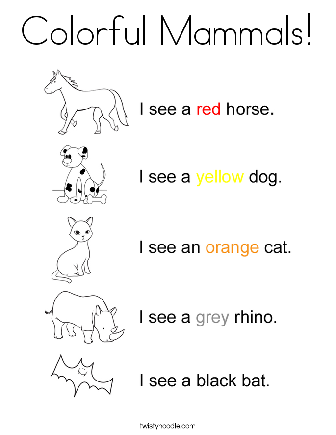 Coloring Pages Animal Classification Activity