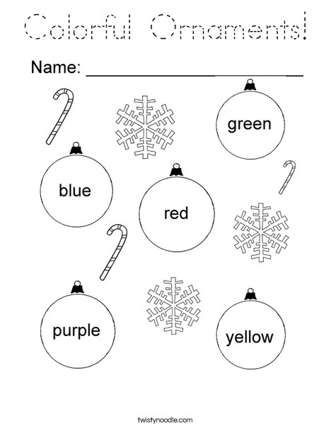 Colorful Ornaments Coloring Page