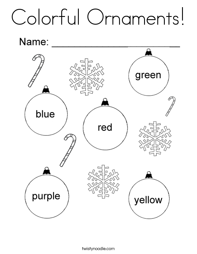 Colorful Ornaments! Coloring Page