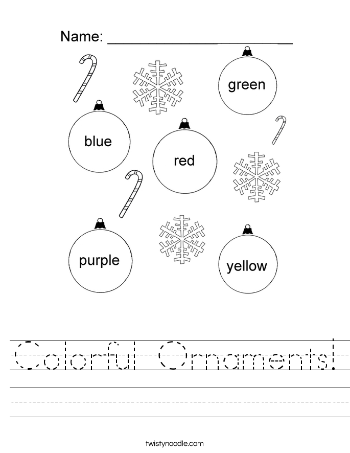 Colorful Ornaments! Worksheet