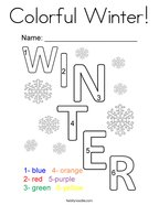 Colorful Winter Coloring Page