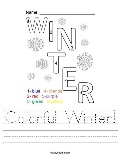 Colorful Winter! Worksheet
