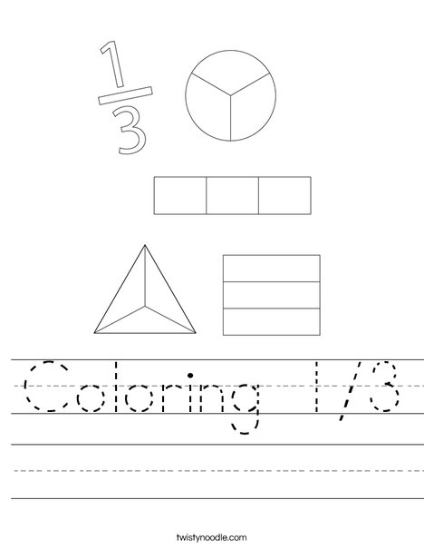 Coloring 1/3 Worksheet