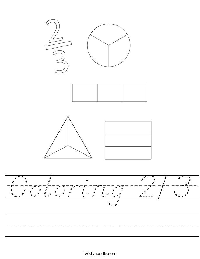 Coloring 2/3 Worksheet