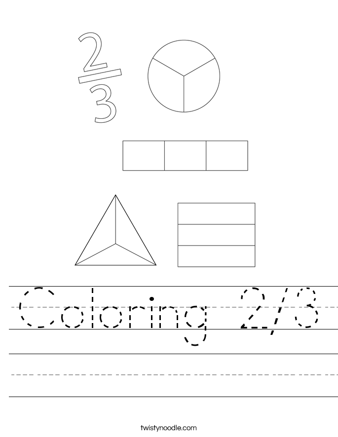 Coloring 2/3 Worksheet