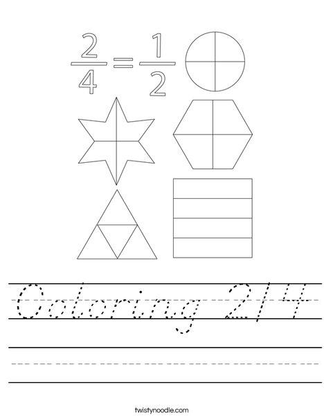 Coloring 2/4 Worksheet