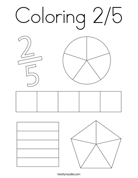 Coloring 2/5 Coloring Page
