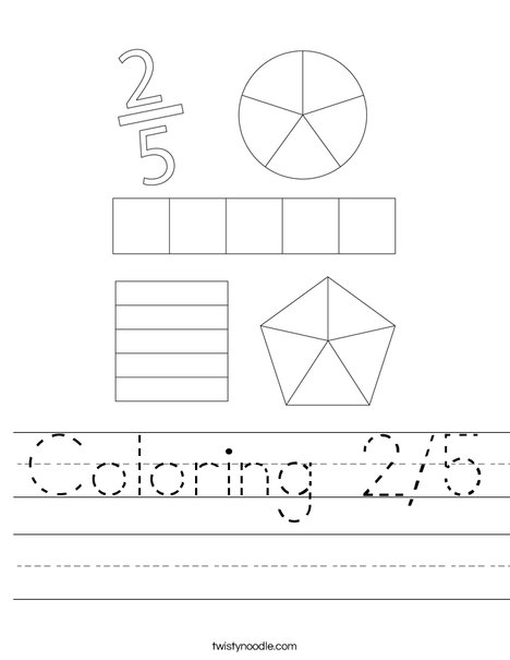 Coloring 2/5 Worksheet