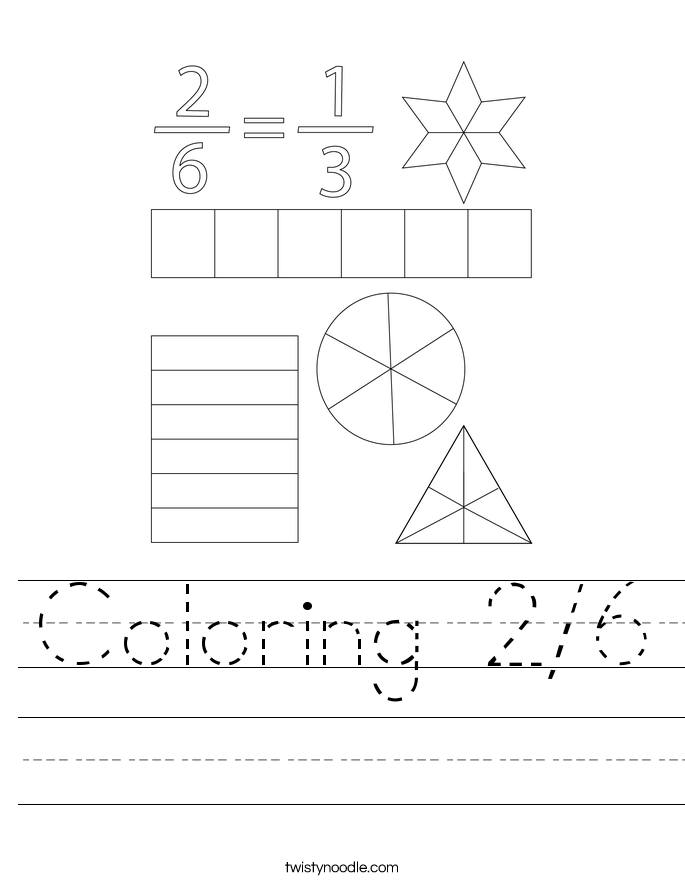 Coloring 2/6 Worksheet