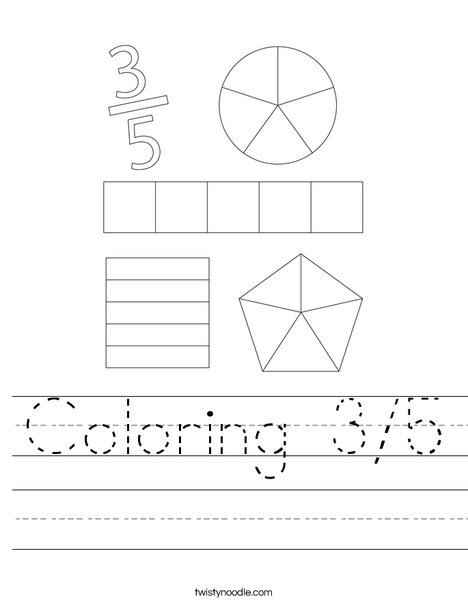 Coloring 3/5 Worksheet
