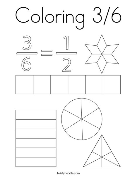 Coloring 3/6 Coloring Page