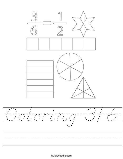 Coloring 3/6 Worksheet