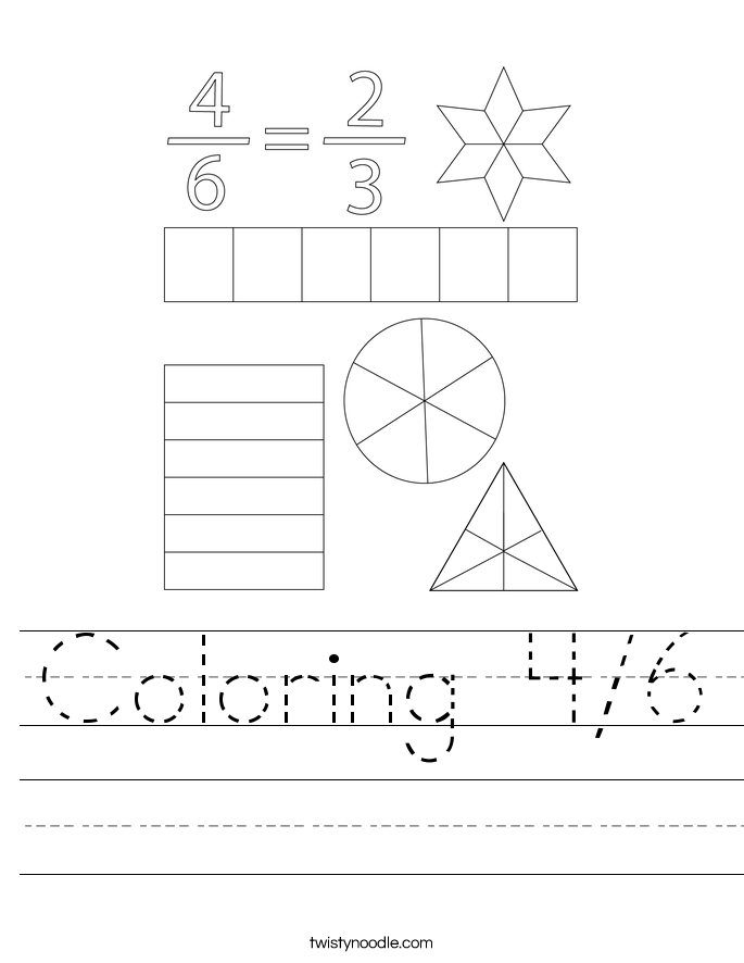 Coloring 4/6 Worksheet