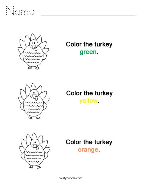 Colortheturkeys Coloring Page
