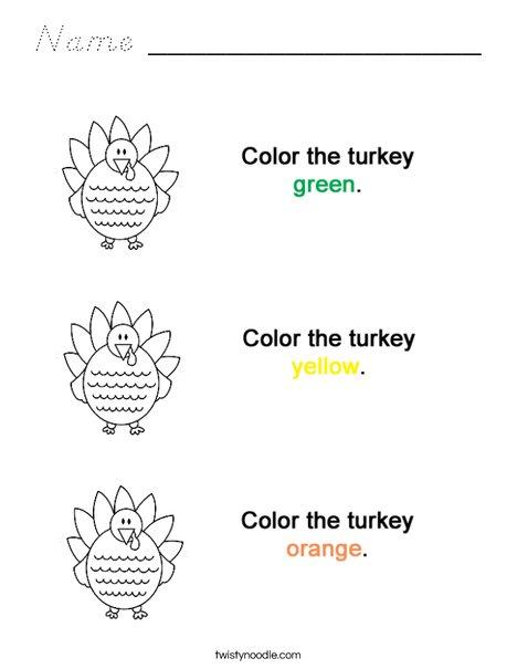 Colortheturkeys Coloring Page