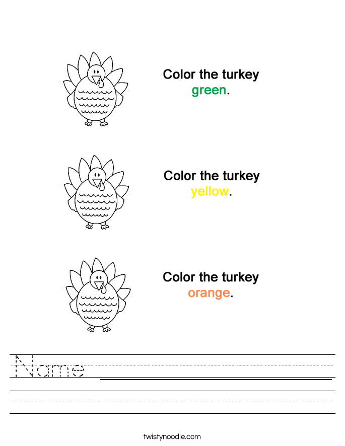 Name _________________ Worksheet