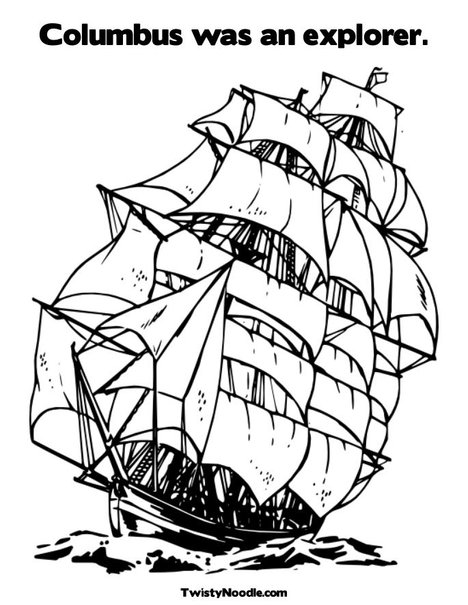 Thy word columbus day lapbook for Explorer coloring pages