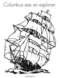 Columbus was an explorer.Coloring Page