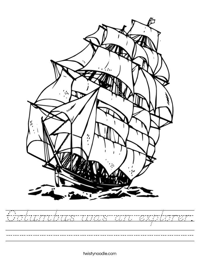 Columbus was an explorer. Worksheet