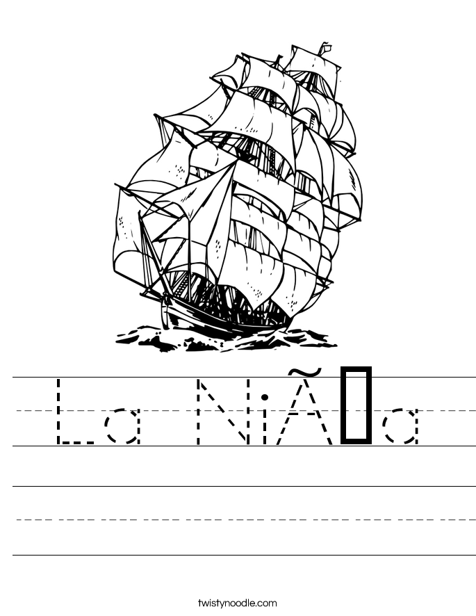La Niña Worksheet