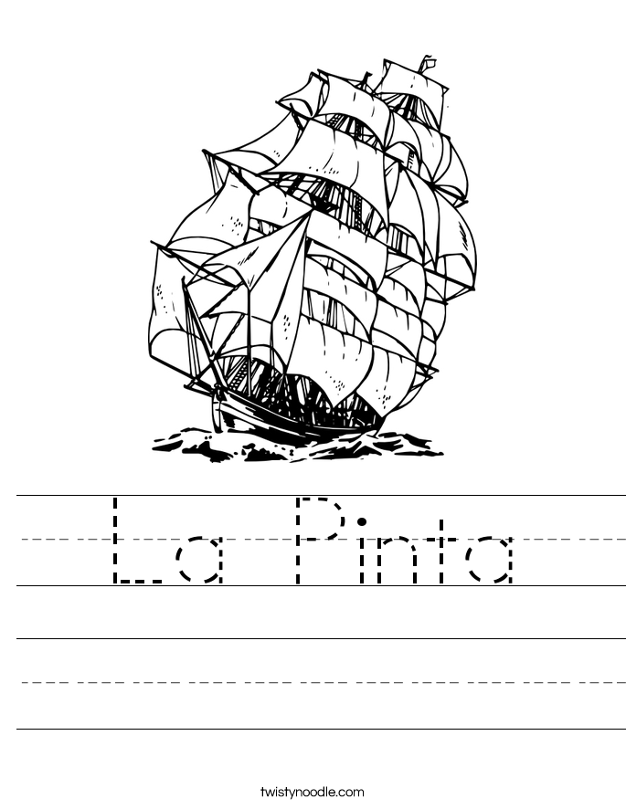 La Pinta Worksheet