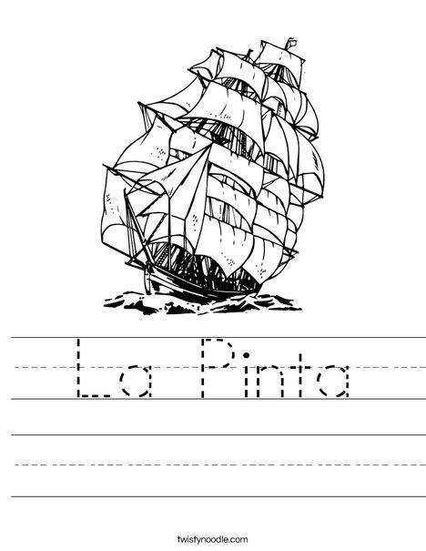 Columbus Day Ship Worksheet