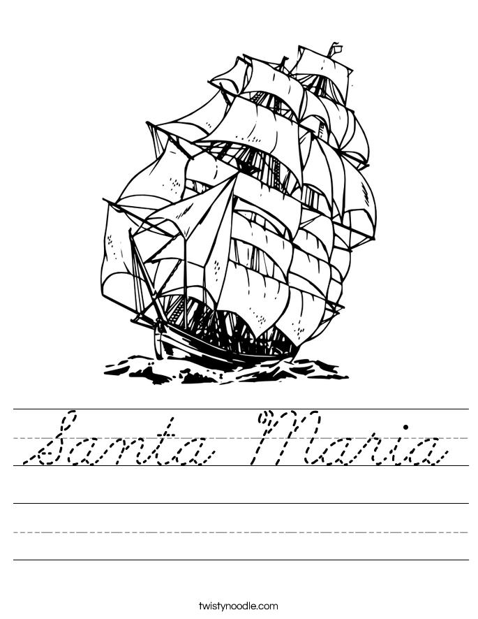 Santa Maria Worksheet