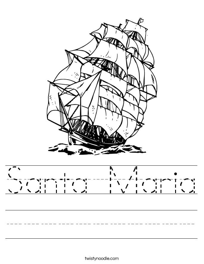Santa Maria Worksheet