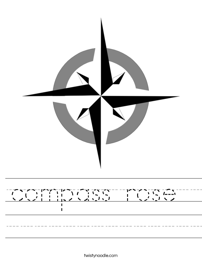 Printables Compass Rose Worksheets compass rose worksheet twisty noodle worksheet