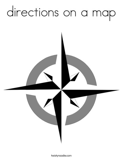 Compass Rose Coloring Page