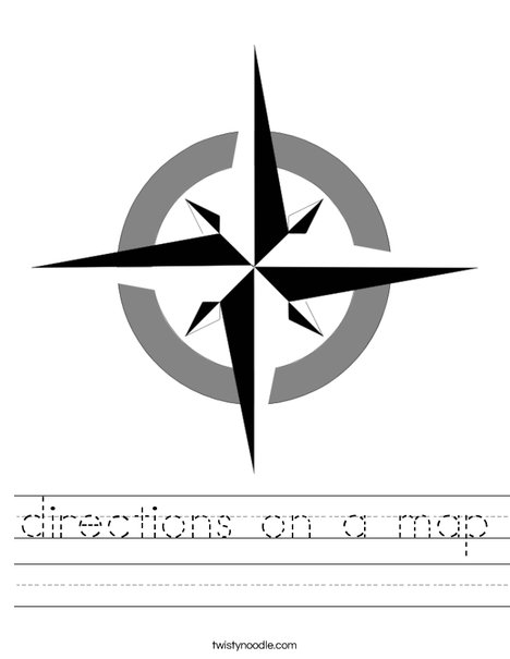 Compass Rose Worksheet