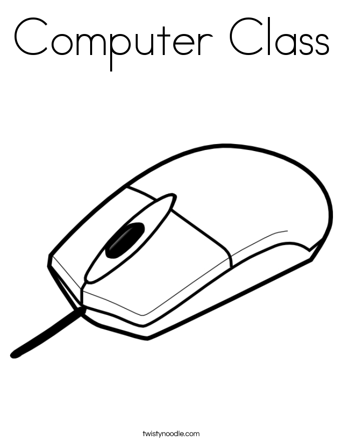 computer class coloring page