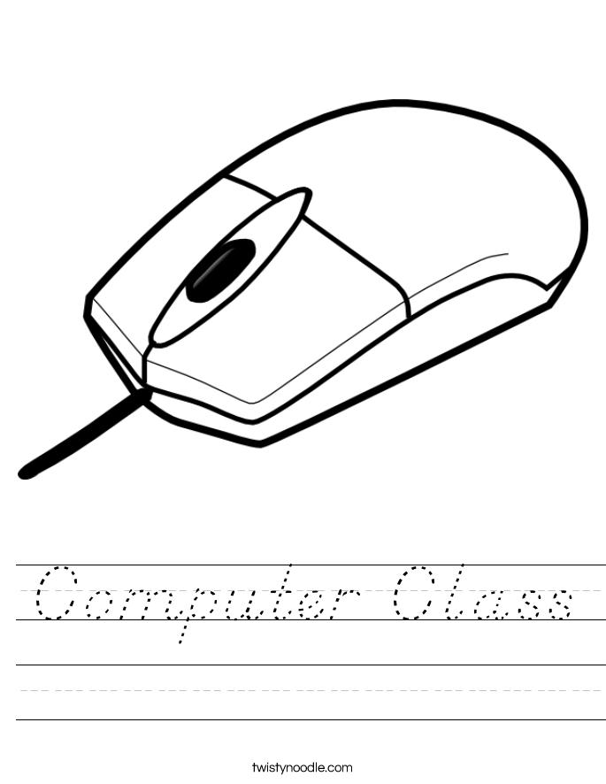 Computer Class Worksheet