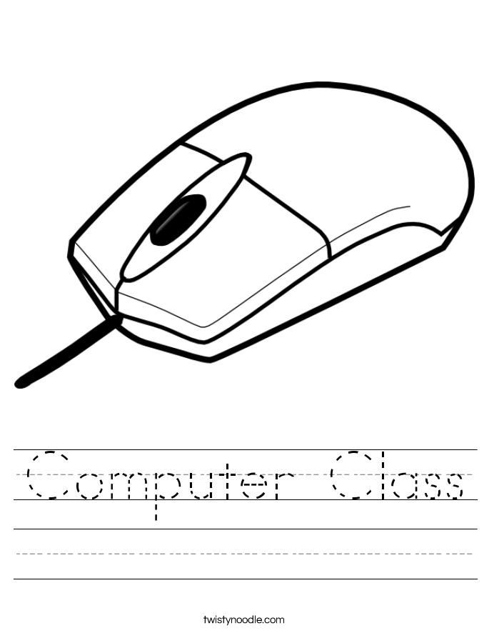 Computer Class Worksheet Twisty Noodle