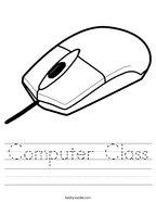 Computer Class Handwriting Sheet
