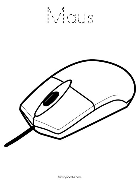 Computer Mouse 1 Coloring Page
