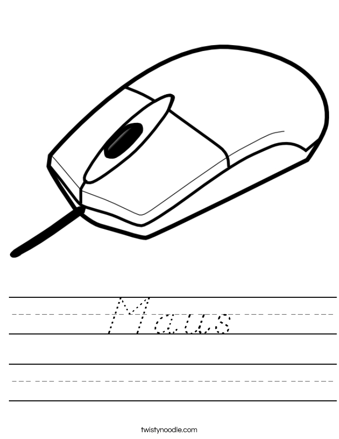 Maus Worksheet
