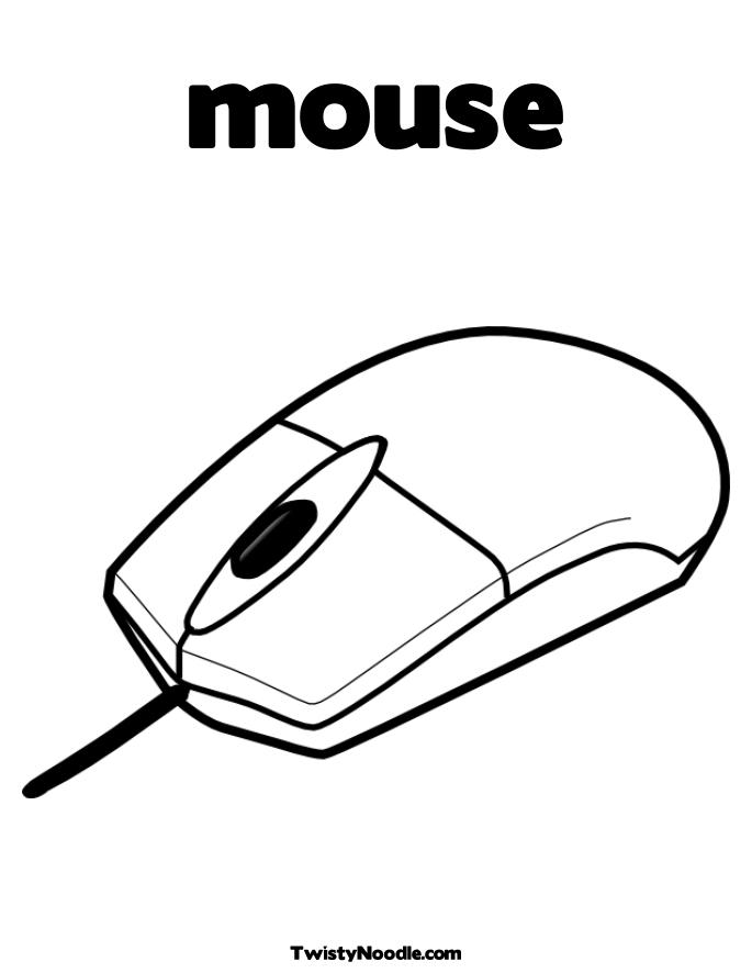 mouse computadora Colouring Pages