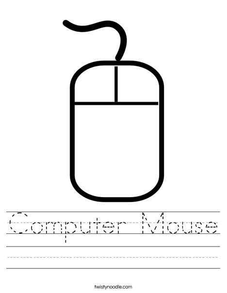 Computer Mouse Worksheet - Twisty Noodle