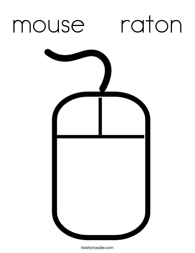 mouse    raton Coloring Page