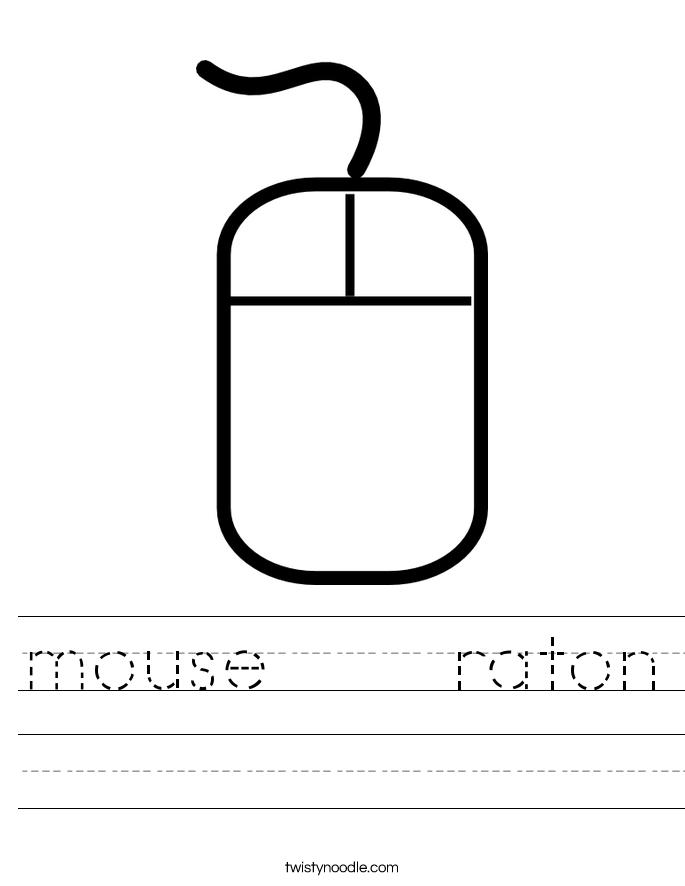 mouse    raton Worksheet