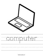 computer Handwriting Sheet